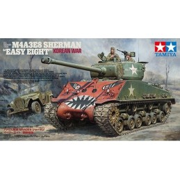 "TAM-35359 TAMIYA 35359 1/35 U.S. MEDIUM TANK M4A3E8 SHERMAN ""EASY EIGHT"" KOREAN WAR MODEL"