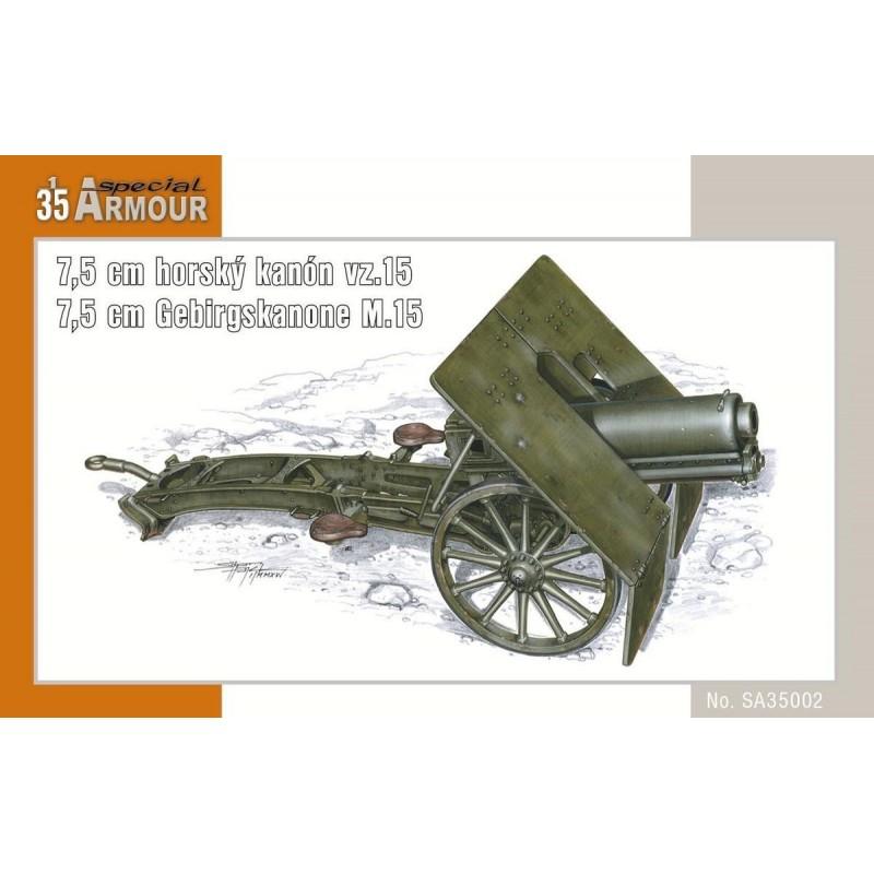 SH-100SA35002 SPECIAL HOBBY SA35002 1/35 7,5 cm horský kanon vz.15 / 7,5 cm Gebirgskanone M.15