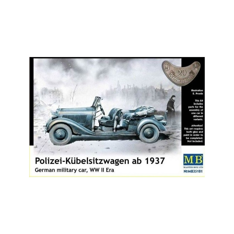 MB-35101 Master Box 35101 German military car Polizei Kubelsitzwagen