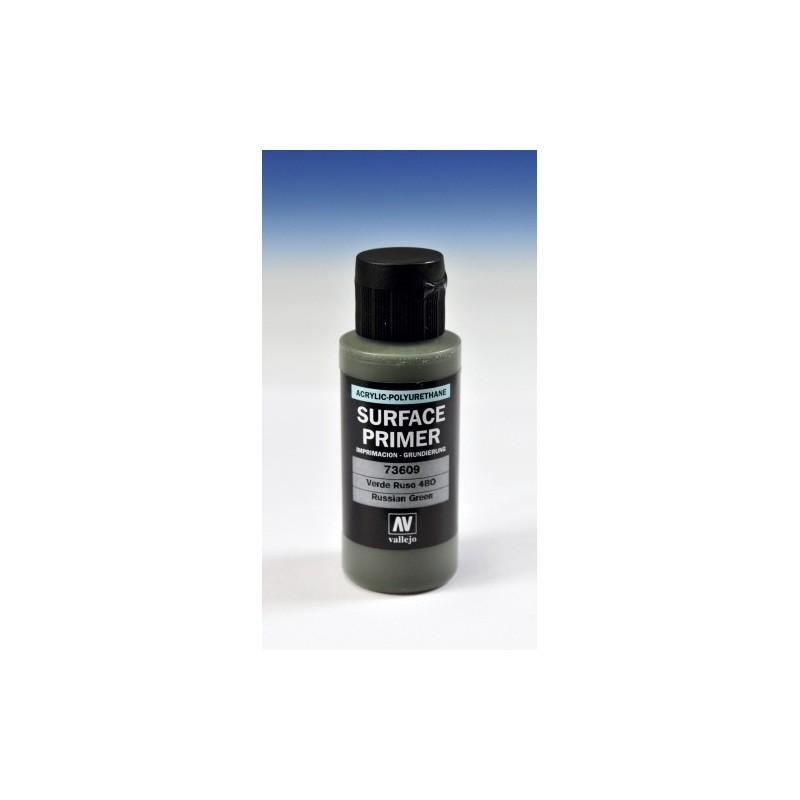 VAL-73609 Acrylicos Vallejo 73609 Imprimación Acrilica-Poliuretano. Frasco 60 ml. Verde Ruso 4BO
