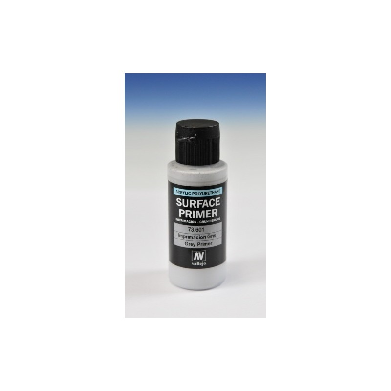 VAL-73601 Acrylicos Vallejo 73601 Imprimación Acrilica-Poliuretano. Frasco 60 ml. Gris