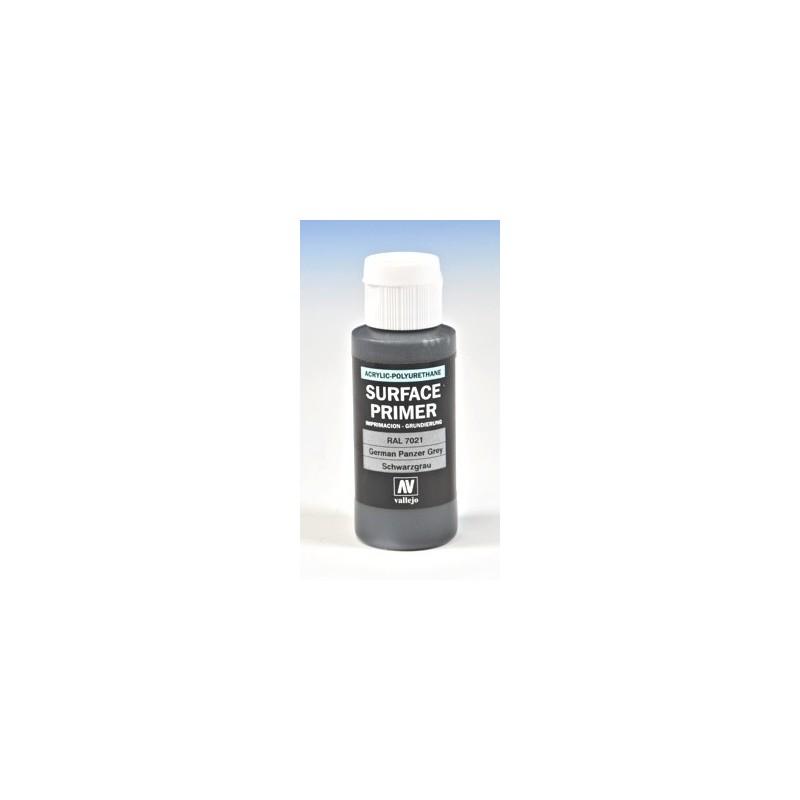 VAL-73603 Acrylicos Vallejo 73603 Imprimación Acrilica-Poliuretano. Frasco 60 ml. Gris Panzer