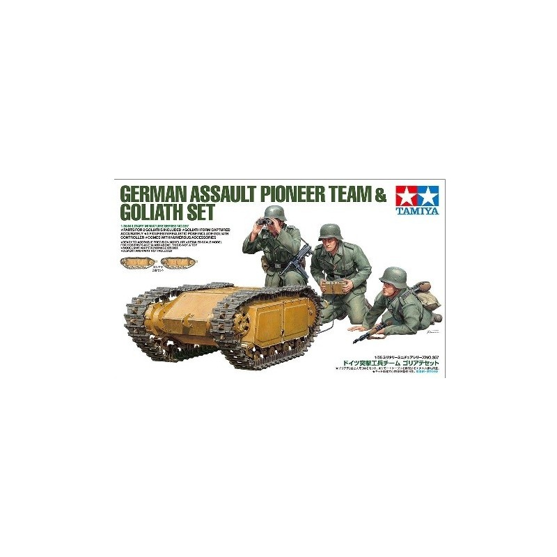 TAM-35357 Tamiya 35357 1/35 German Assault Pioneer Team  Goliath Set