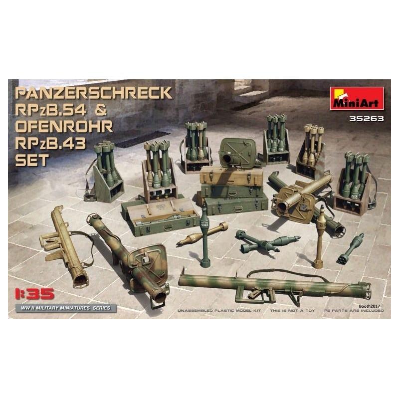 MA-35263 MINIART 35263 1/35 Panzerschreck RPzB.54  Ofenrohr RPzB.43 Set