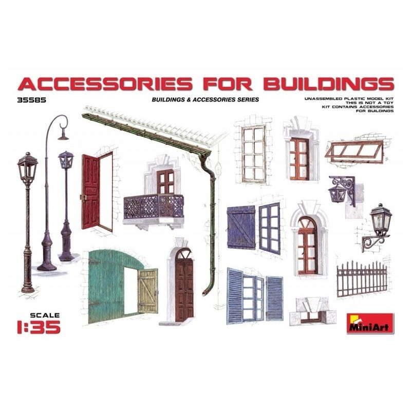 MA-35585 MiniArt 35585 1/35 Accessories for buildings
