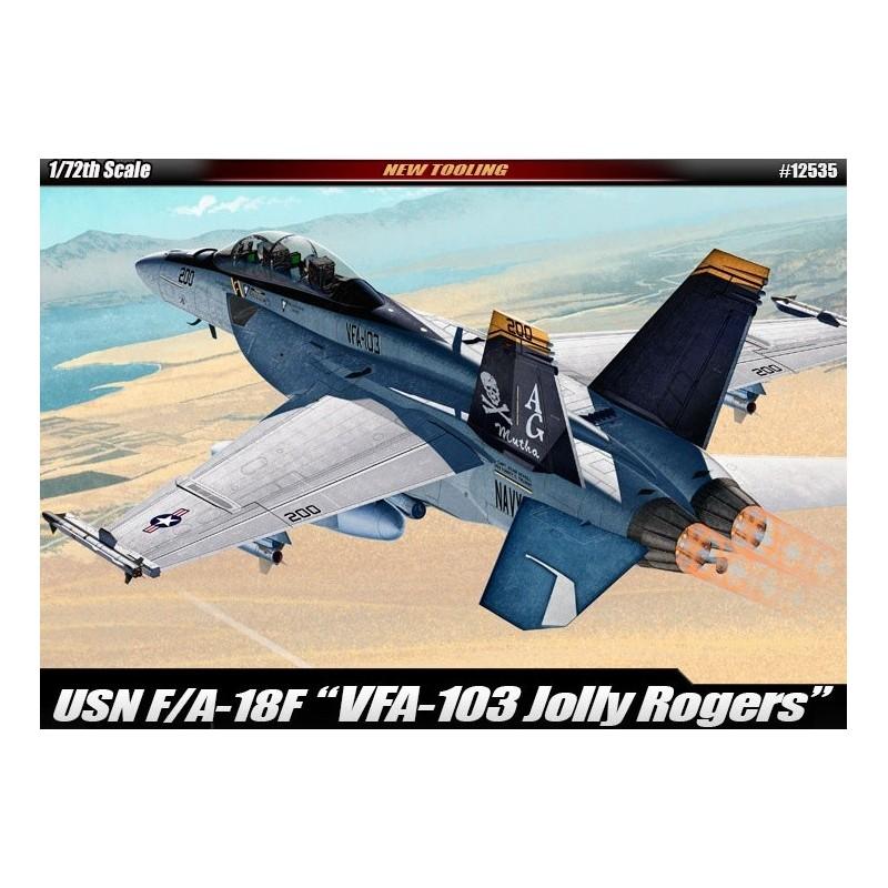 ACA-12535 Academy 12535 F/A-18F 1/72 USN VF-103 Jolly Rogers