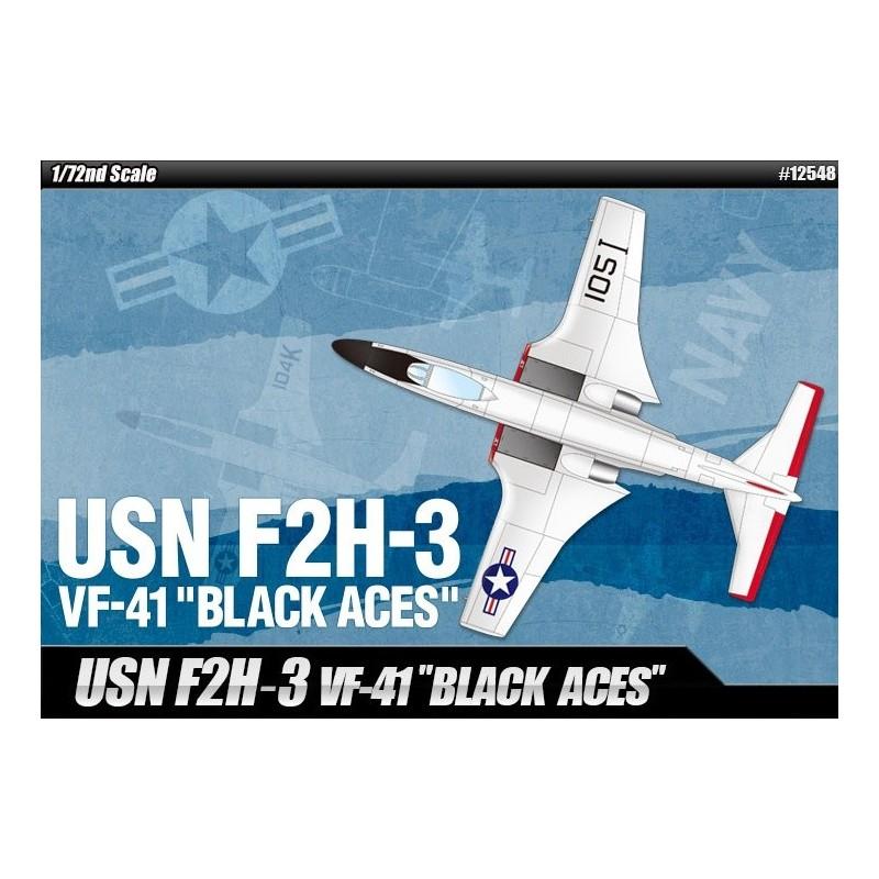 ACA-12548 Academy 12548 1/72 USN F2H-3 VF-41 BLACK ACES
