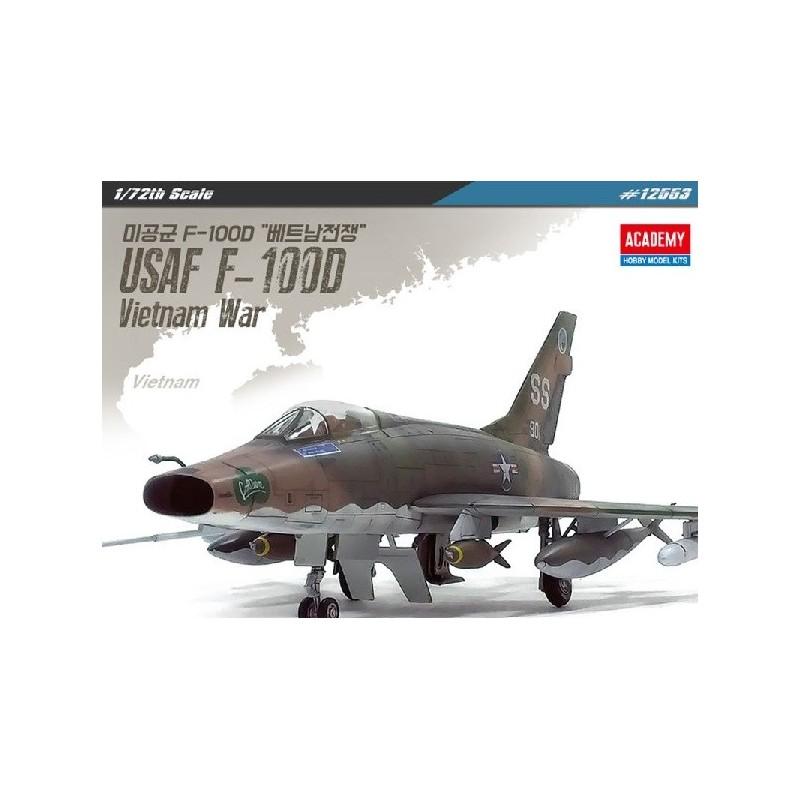 ACA-12553 ACADEMY 12553 1/72 USAF F-100D Vietnam War