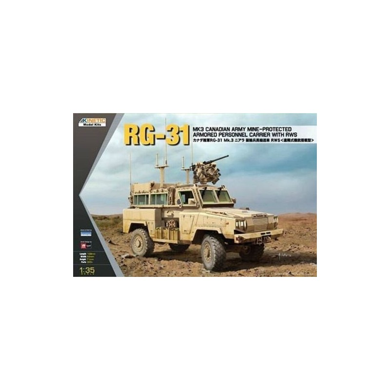 KIN-61010 Kinetic 61010 1/35 Rg-31 Mk.3 Canadian Army MRAP