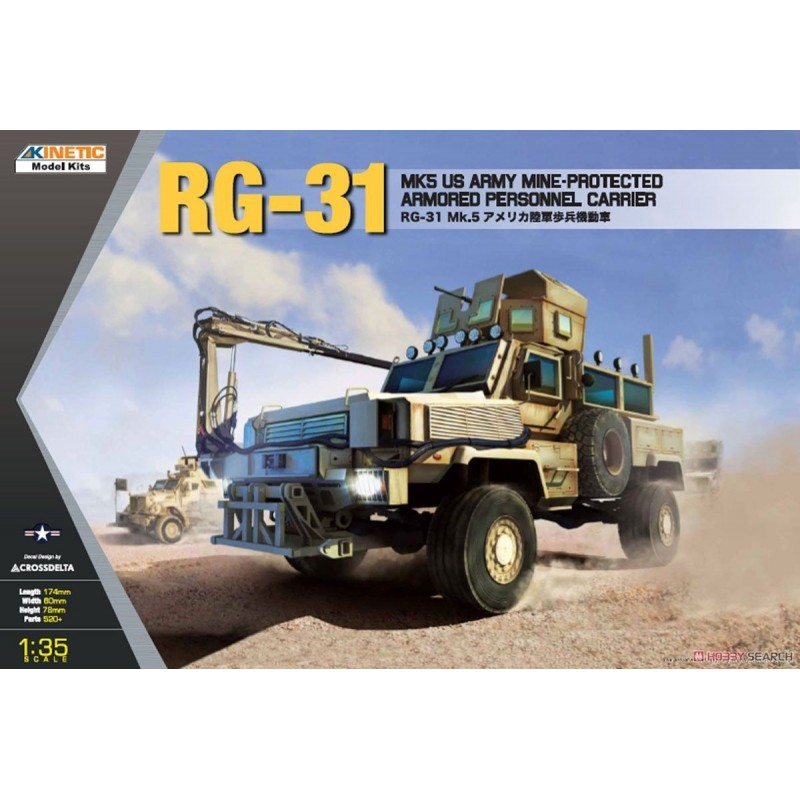 KIN-61015 KINETIC 61015 1/35 Mine-Protected Armored Personnel Carrier RG-31 Mk.5