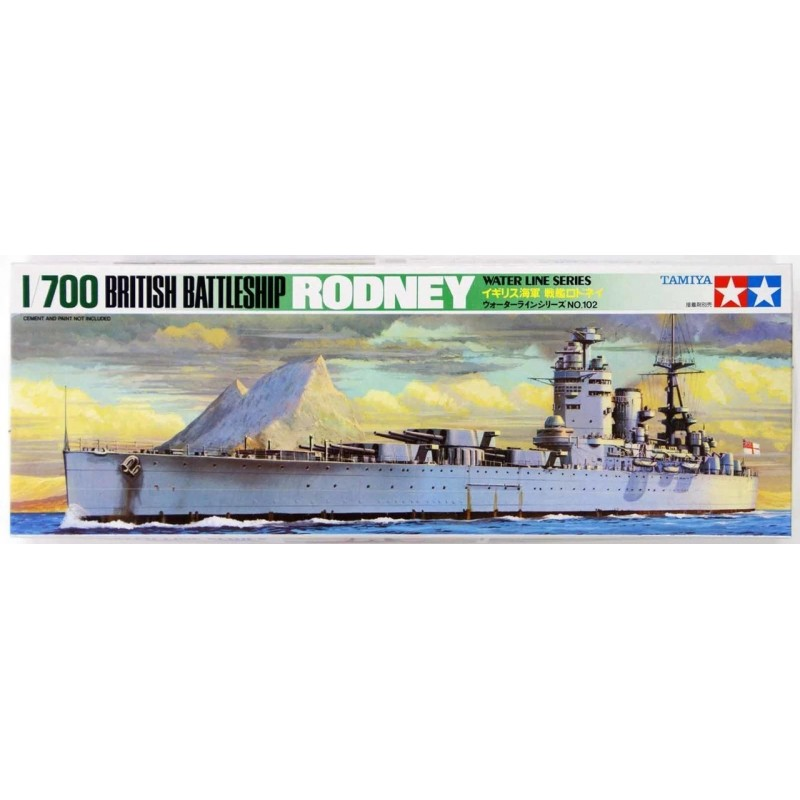 TAM-77502 Tamiya 77502 1/700 British Battleship Rodney