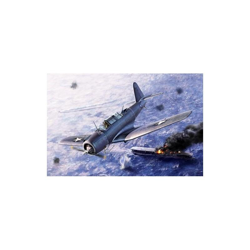 "ACA-12324 ACADEMY 12324 1/48 SB2U-3 VINDICATOR ""BATTLE OF MIDWAY"""