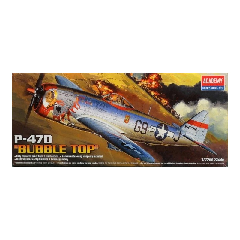 ACA-12491 ACADEMY 12491 1/72 P-47D THUNDERBOLT.BUB.