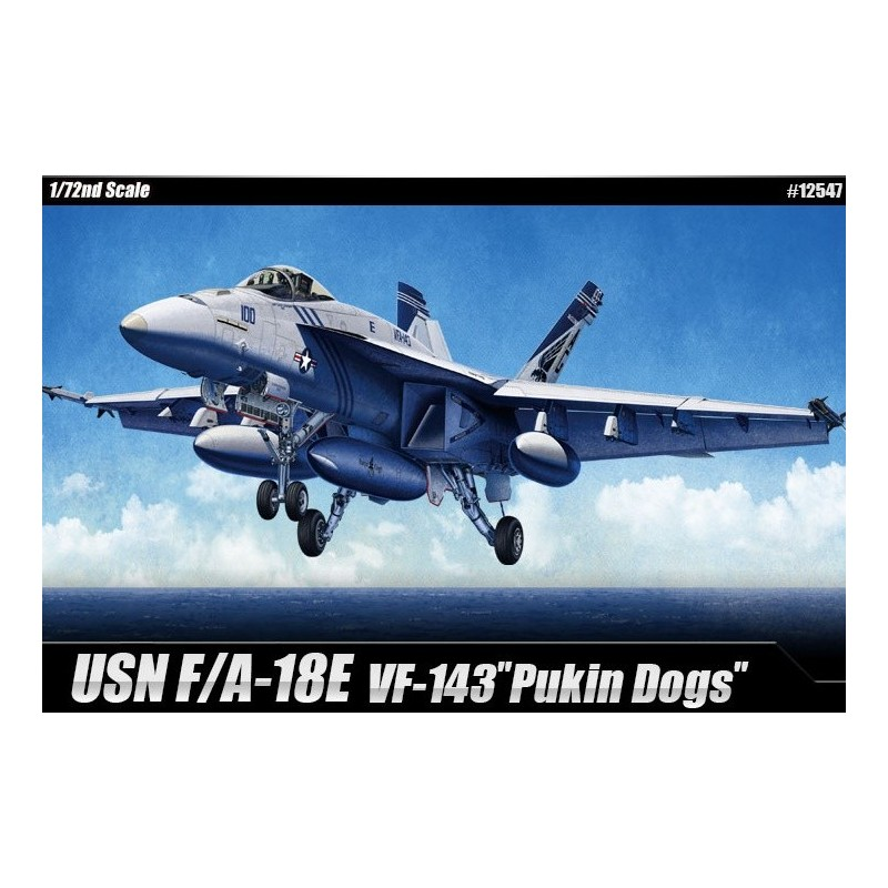 "ACA-12547 ACADEMY 12547 1/72 USN F/A-18E ""VFA-143 PUKIN DOGS"""