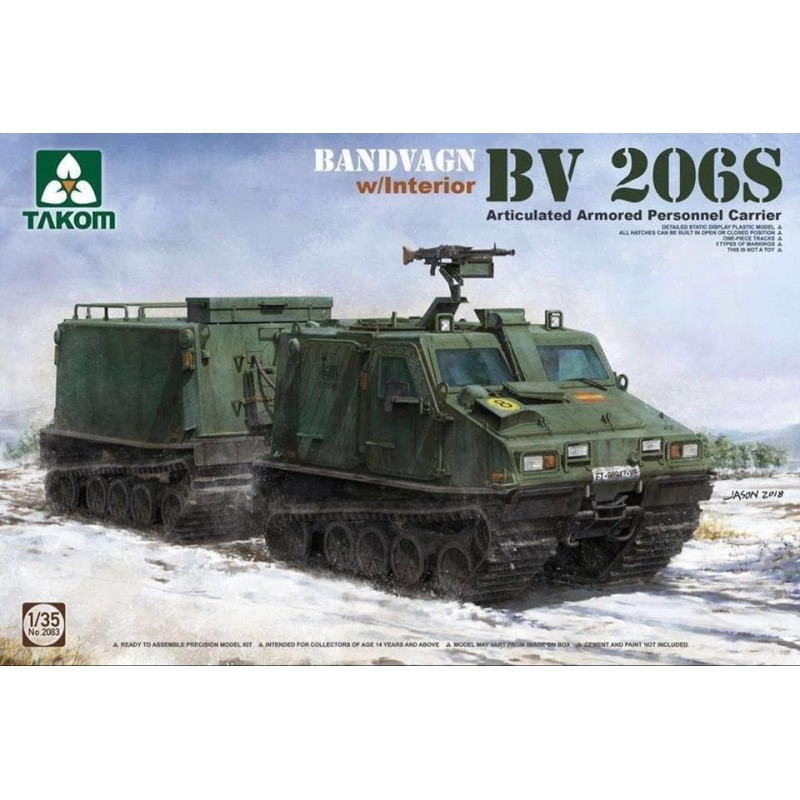 TKM-2083 Takom 2083 1/35 Bandvagn BV 206S Articulated Armored Personnel Carrier
