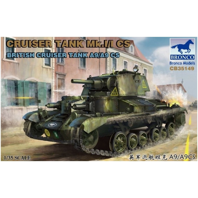 BM-35149 Bronco models 355149 1/35 British Cruiser Tank A9/A9 CS (MK.I/I CS)