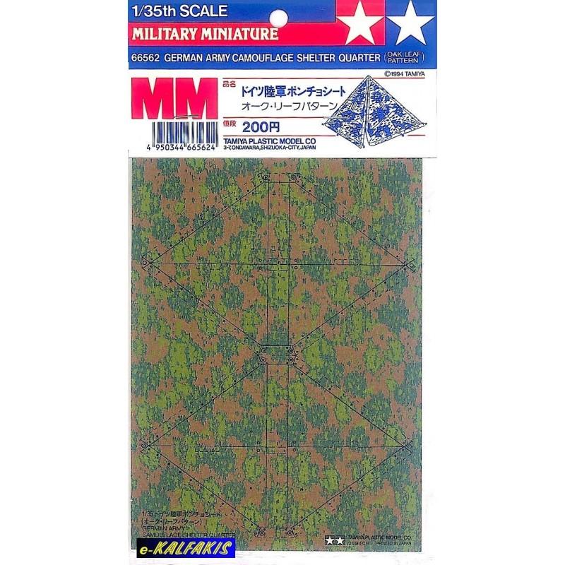 TAM-66562 Tamiya 66562 1/35 German Army Camouflage Shelter Quarter Oak Leaf