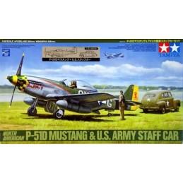 TAM-89732 Tamiya 89732 North American P-51d Mustang  US Army Staff Car