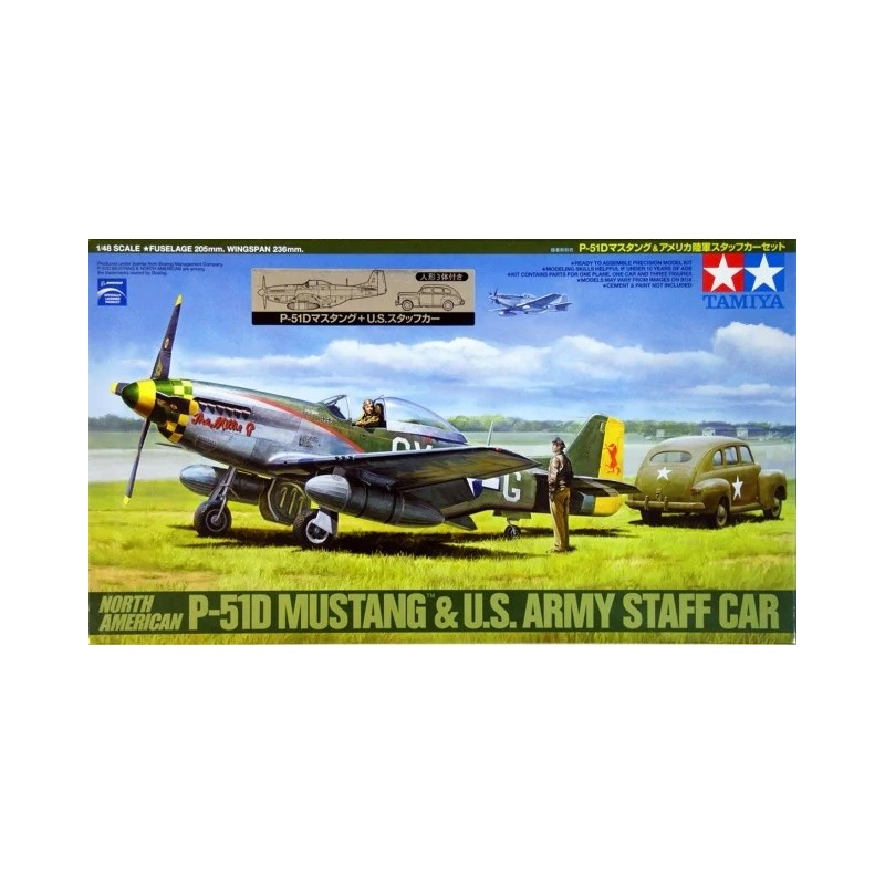 TAM-89732 Tamiya 89732 North American P-51d Mustang  US Army Staff Car