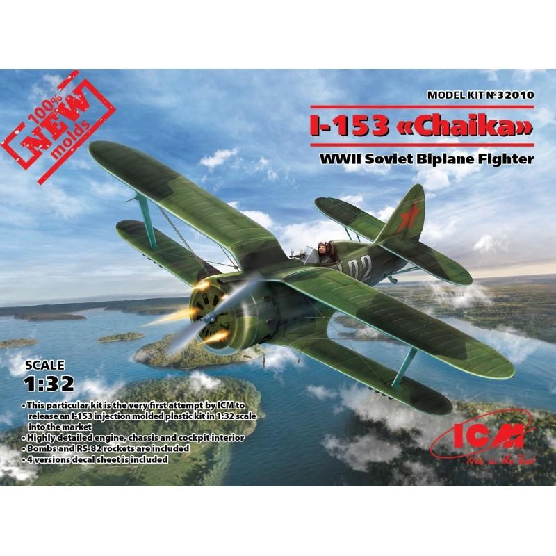 ICM-32010 ICM   32010 1/32 I-153, WWII Soviet Fighter (100% new molds)