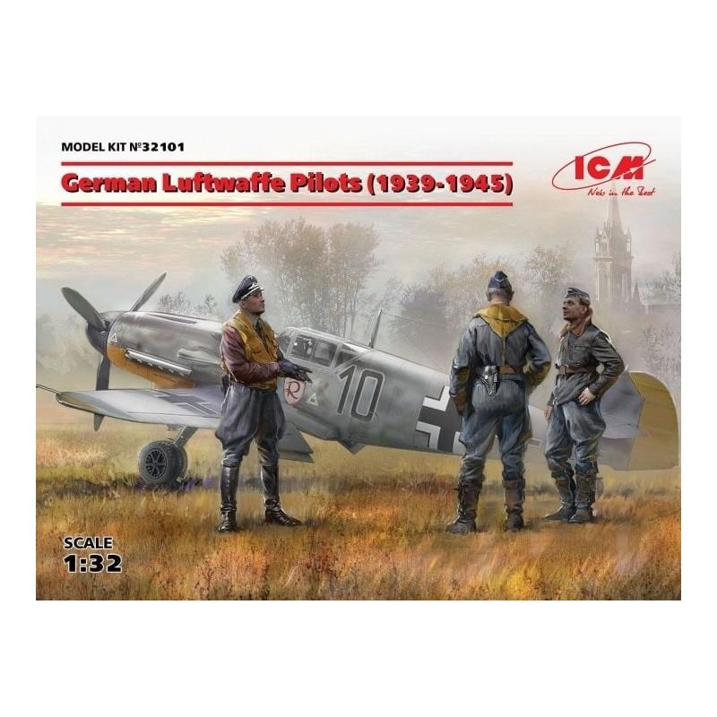 ICM-32101 ICM 32101   1/32 German Luftwaffe Pilots (1939-1945) (3 figures) (100% new molds)