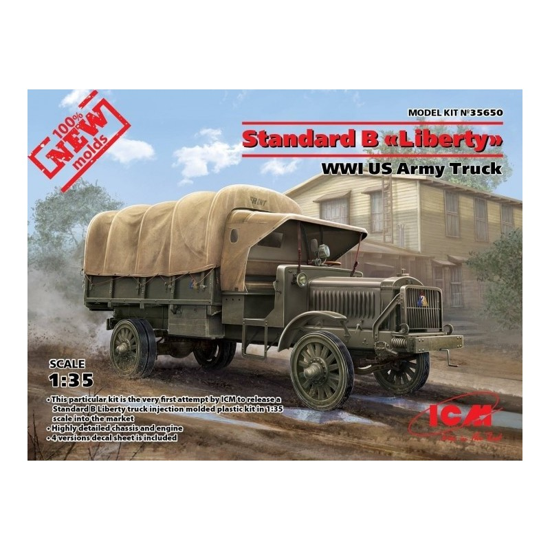 "ICM-35650 ICM  35650  1/35 Standard B «Liberty"", WWI US Army Truck (100% new molds)"