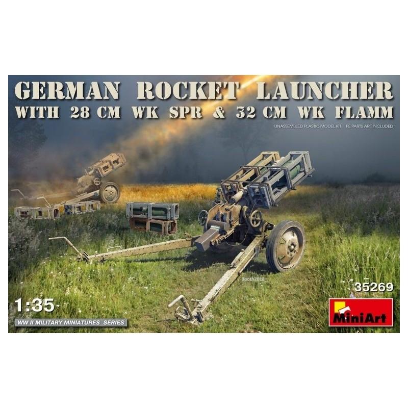 MA-35269 MINIART  35269 1/35 German Rocket Launcher with 28cm WK Spr  32cm WK Flamm