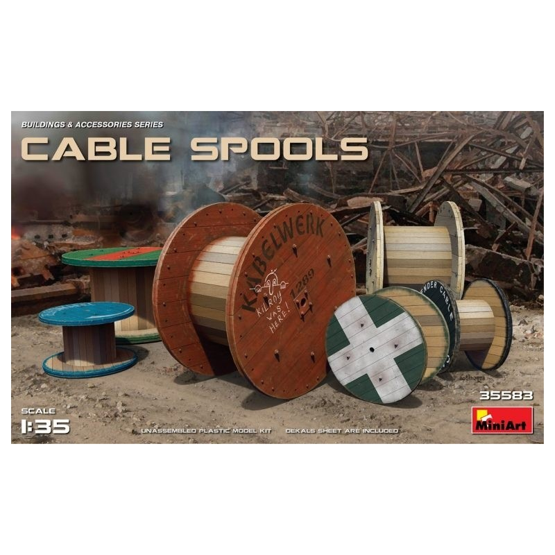 MA-35583 MINIART 35583  1/35 Cable Spools
