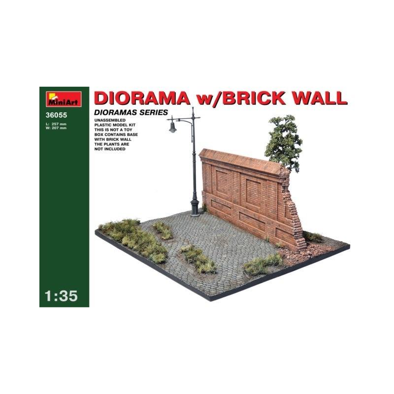 MA-36055 MINIART 36055  1/35 Diorama with Brick Wall