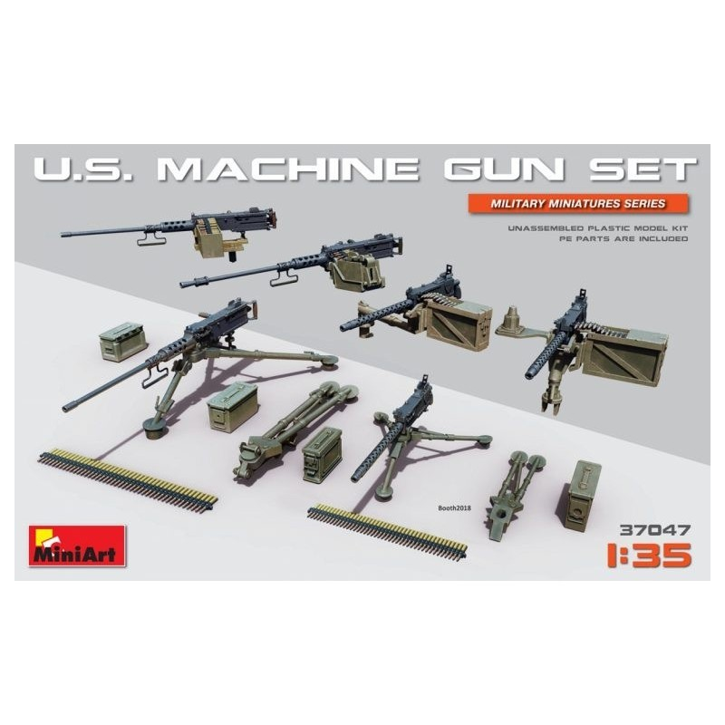 MA-37047 MINIART 37047  1/35 U.S. Machine Gun Set