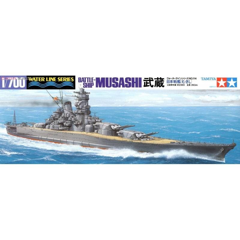 TAM-31114 Tamiya 31114 1/700 Musashi