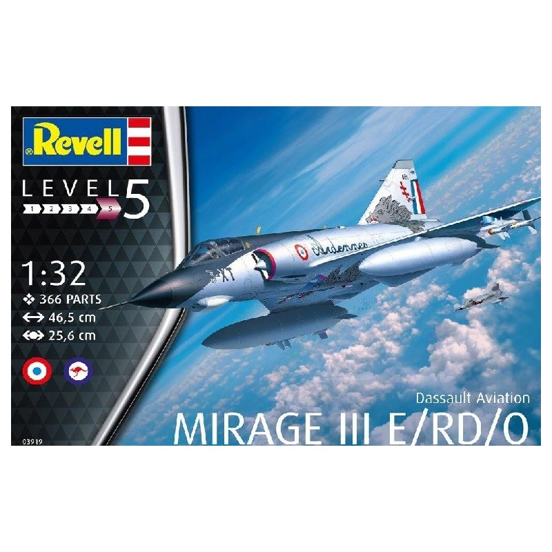REV-03919 REVELL 03919 1/32 Dassault Aviation Mirage III E/RD.