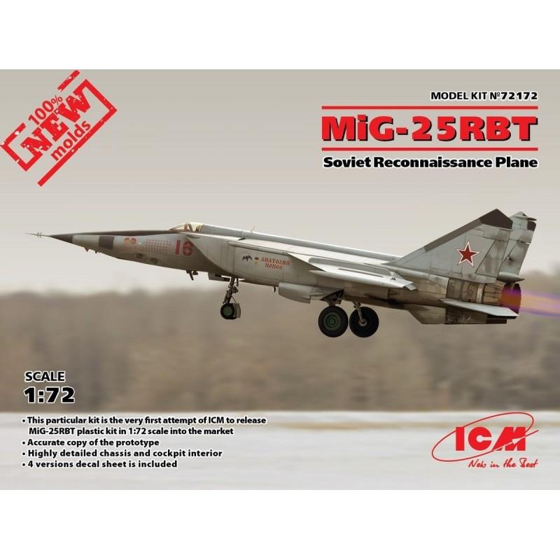 ICM-72172 ICM 72172 1/72 MiG-25 RBT Soviet Reconnaissance Plane
