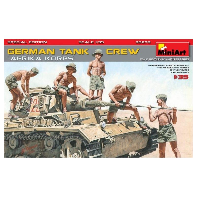 "MA-35278 MINIART 35278  1/35  German Tank Crew.""Afrika Korps"". Special Edition"