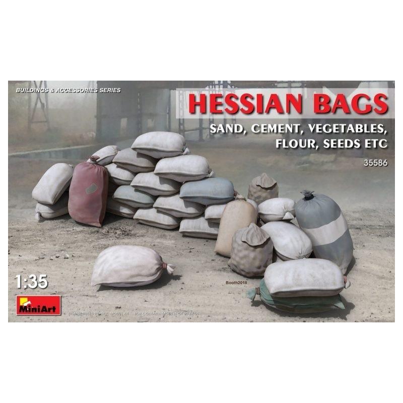 MA-35586 MINIART 35586  1/35  Hessian Bags (sand, cement, vegetables, flour, seeds etc)