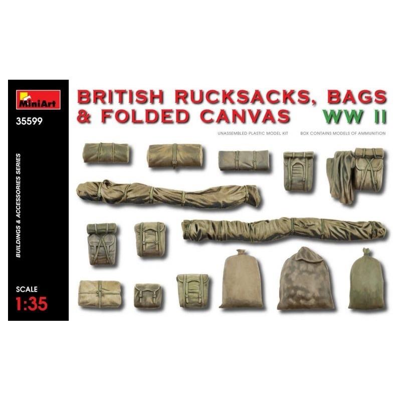MA-35599 MINIART 35599  1/35  British Rucksacks, Bags  Folded Canvas WW2