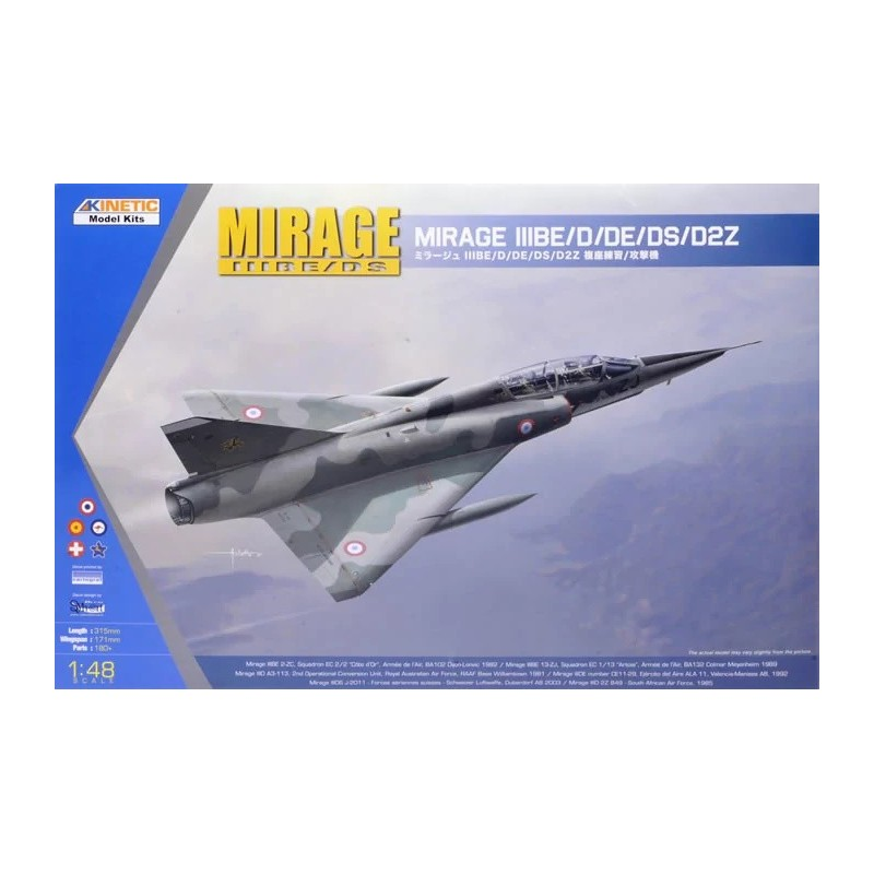 KIN-48054 Kinetic 48054 1/48 Mirage III BE/D/DE/DS/D2Z. Calcas españolas