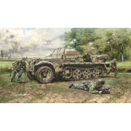 ITA-6561 Italeri 6561 1/35 Sd.Kfz. 10 Demag D7 with German Paratroops