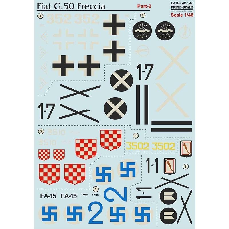 PRI-48146 printscale  48146 1/48  Fiat G-50 Part 2
