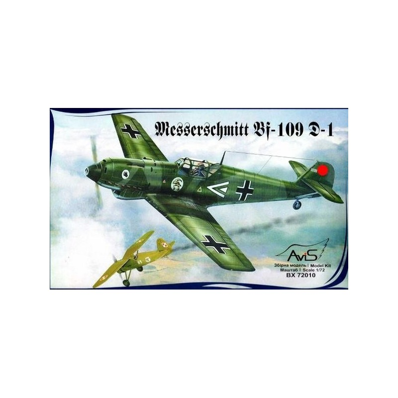 AVI-72010 AVIS 72010 1/72 Messerschmitt Bf-109 D WWII German fighter. Clacas espanolas