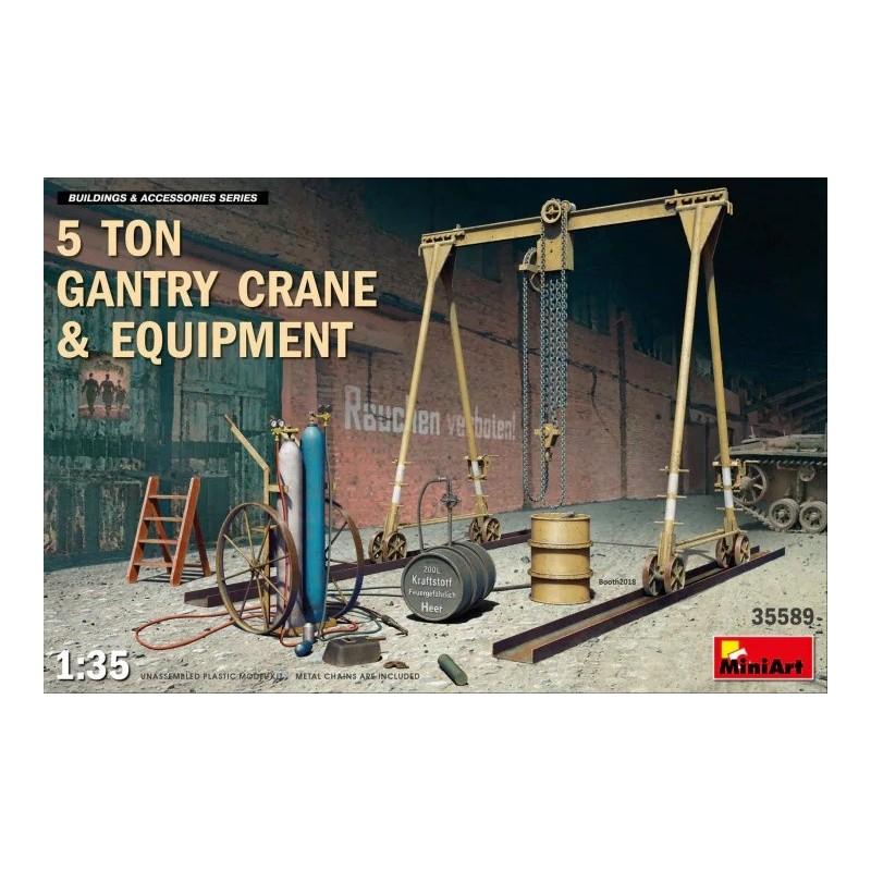 MA-35589 MINIART 35589 1/35 5 Ton Gantry Crane  Equipment