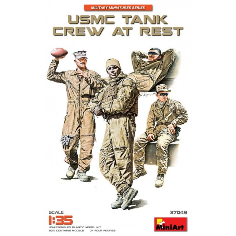 MA-37049 MINIART 37049 1/35 USMC Tank Crew at Rest