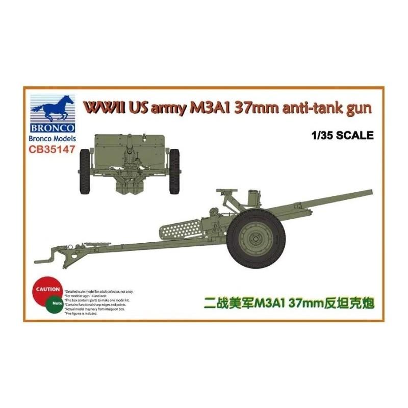 BM-35147 Bronco models 35147 1/35 WWII US army M3A1 37mm anti-tank gun