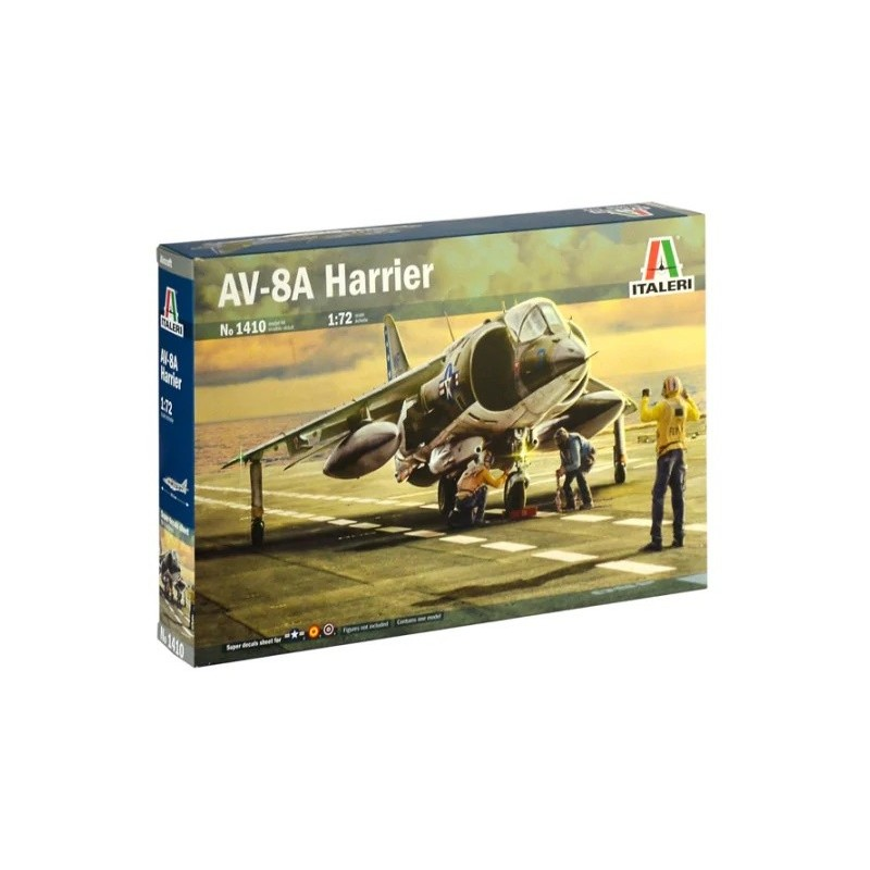 ITA-1410 italeri 1410 1/72 AV-8A HARRIER. calcas españolas
