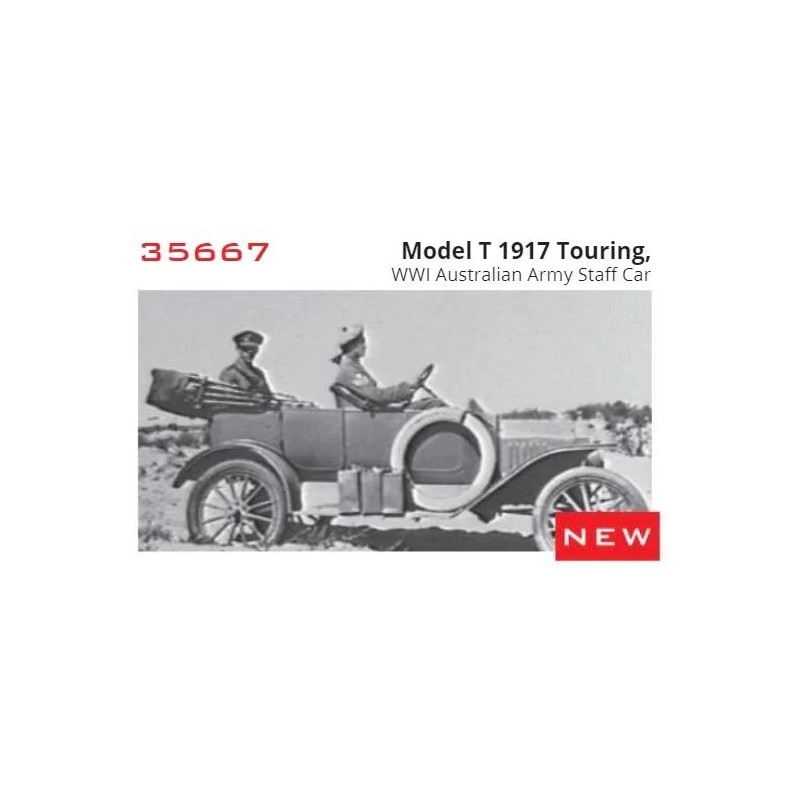 ICM-35667 icm 35667 1/35 FORD Model T (1917) Touring Ejercito Australiano