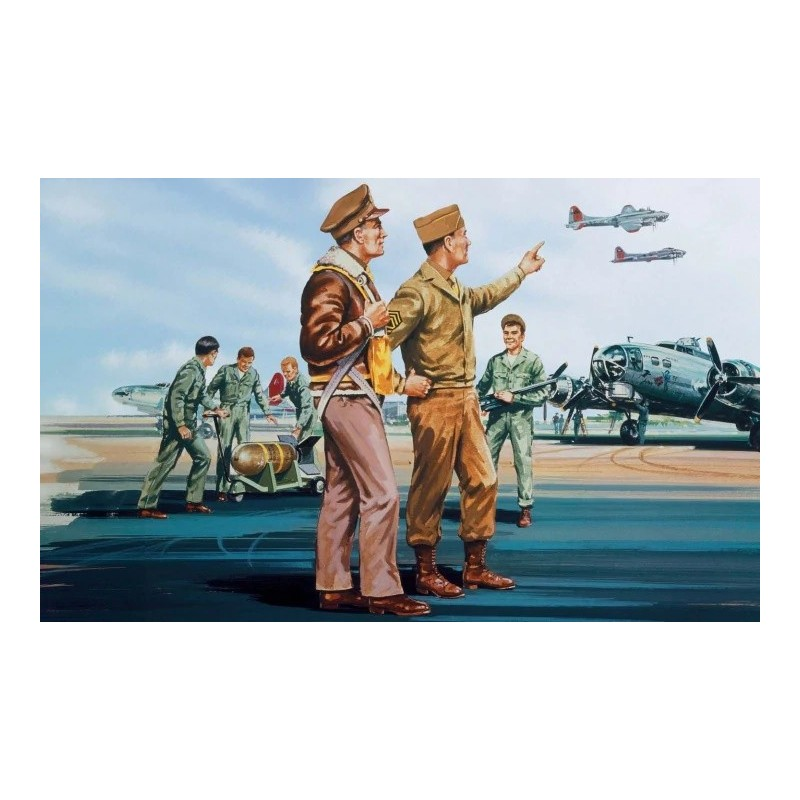 AFX-A00748V AIRFIX A00748V 1/76 USAAF Personnel