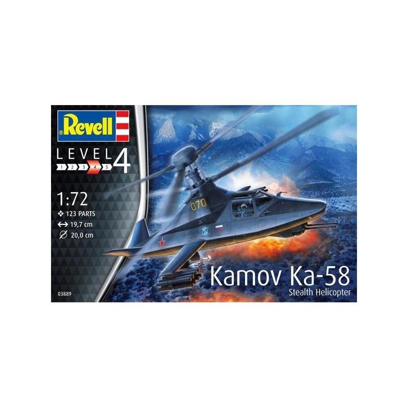 REV-03889 Revell 03889 1/72 Kamov Ka-58 Stealth Helicopter