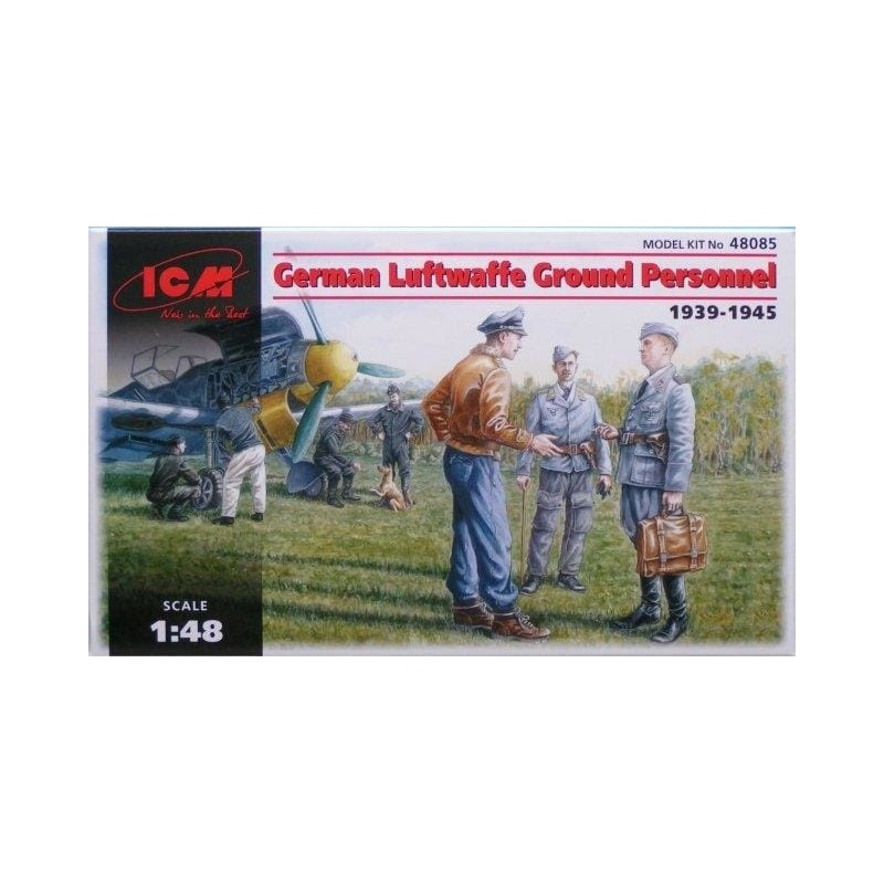 ICM-48085 CM 48085 1/48 German Luftwaffe Ground Personnel 1939-1945