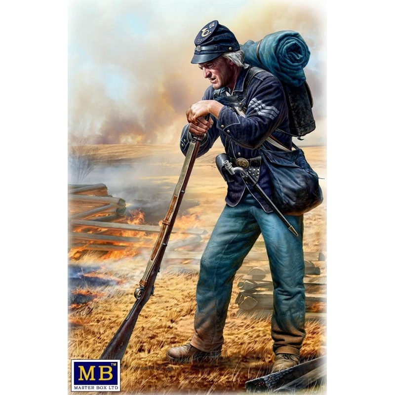 MB-35196 MASTER BOX 35196 1/35 A Quick Rest, After the Battle. Union Army Infantry Sergeant, 72ndNew York Regiment, Army of the