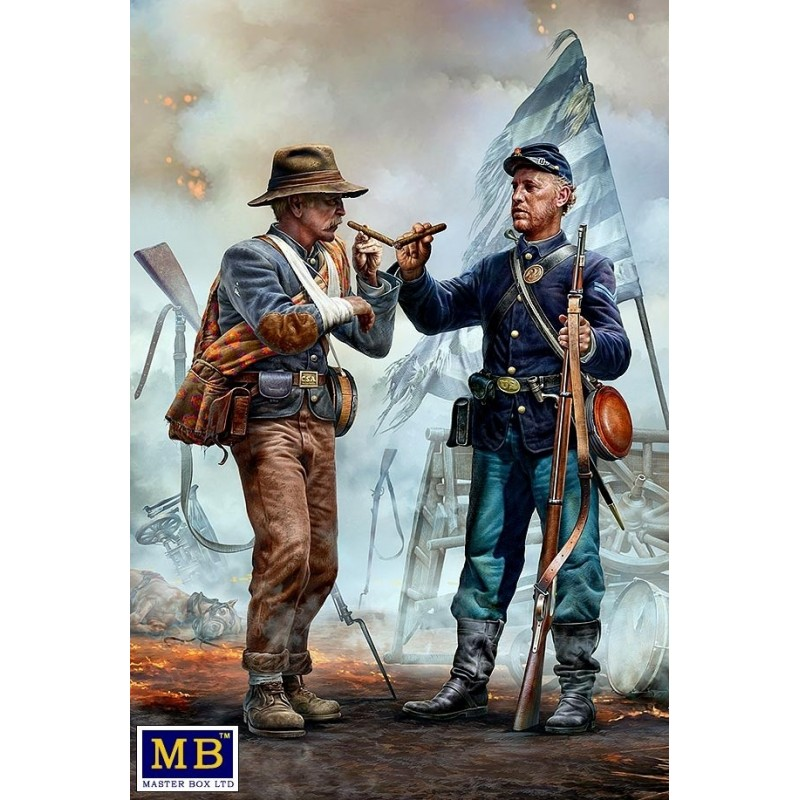 MB-35198 MASTER BOX 35198 1/35 Family Reunited - Brothers Meet Again. End of the War – Confederate army surrenders to Federal tr